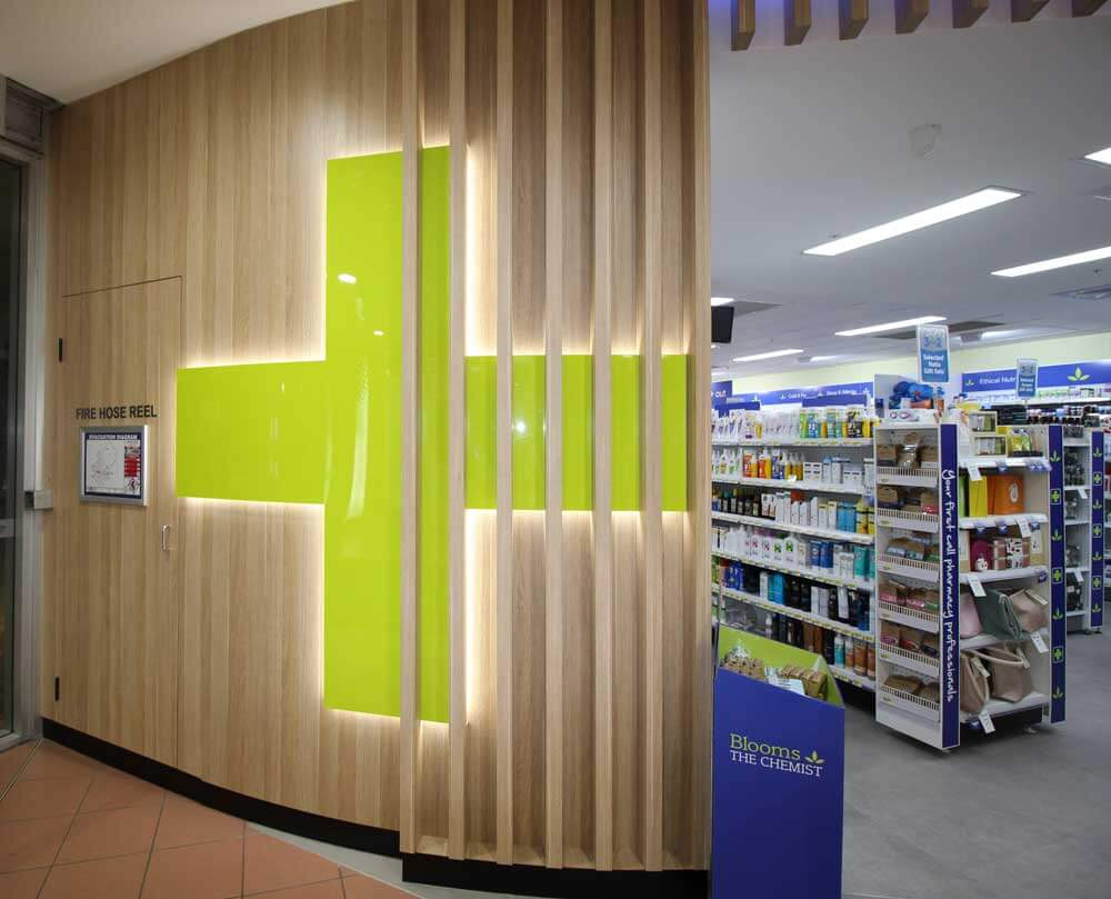 pharmacy fit out blooms chemist